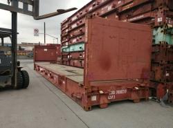 40尺二手框架集装箱